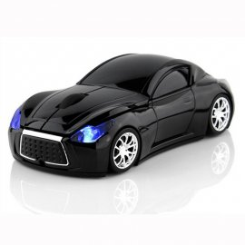 Mouse car, sports car, 2.4GHz 1600DPI, LED