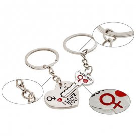 Keyring / heart key ring, key