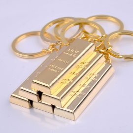 Keyring / gold brick