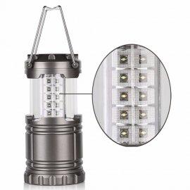 Lucerna / lampa kempingová, 30 LED, háček na zavěšení, skládací