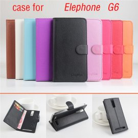 Pouzdro pro Elephone G5 G6 P7 P8 Pro P8, flip, stojánek, PU kůže, peněženka