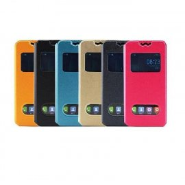 Case for Iget Blackview BV5000, flip, view window, PU leather
