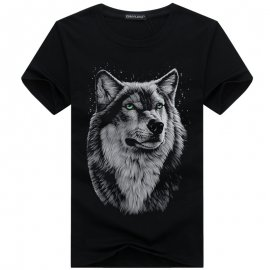 Men's Wolf Head T-shirt 3D / FREE Shipping!
