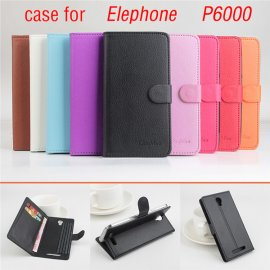 Case for Elephone P6000, flip, stand, wallet, PU leather