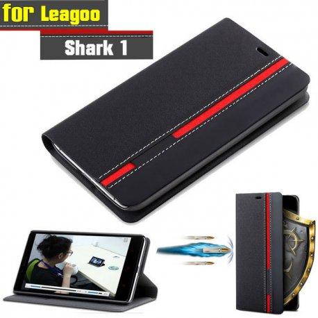 Pouzdro pro Leagoo Shark 1, flip, stojánek, peněženka, PU kůže
