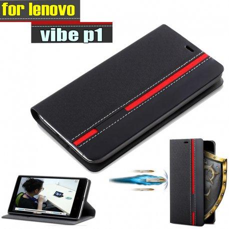 Pouzdro pro Lenovo vibe p1, flip, stojánek, peněženka, PU kůže