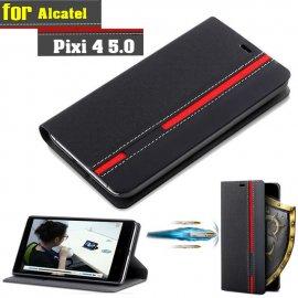 Pouzdro pro Alcatel One Touch Pixi, flip, stojánek, peněženka, PU kůže