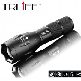 Flashlight CREE XML-T6, Zoom, 5-mode, 3 x AAA or 1x18650, Aluminum, Strap