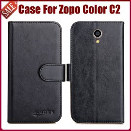 Case for Zopo Color C2, flip, stand, wallet, PU leather