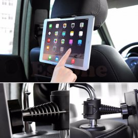 Car Holder for Tablets, GPS, MP5, iPad, Samsung Galaxy Tab etc. Universal / Adjustable / Headrest / max 21x7cm