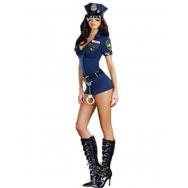 Sexy kostým policistka / 3 Pcs New Ladies Police Fancy Halloween Costume Sexy Outfit