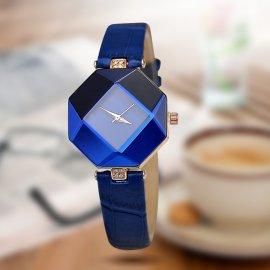 Dámske hodinky Crystal, Quartz, kožený řemínek /Poštovné ZDARMA!