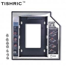 """Výměnný rámeček černý, box pro 9.5mm SATA optickou mechaniku v notebooku, pro 2.5"""" HDD/SSD"""