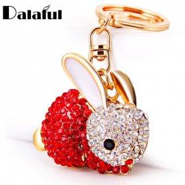 Keyring / Rabbit with crystals, keyring