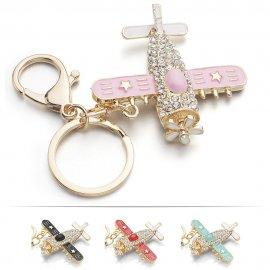 Přívěšek na klíče / Letadlo s krystaly , klíčenka