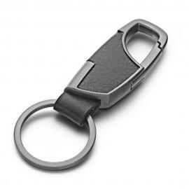 Přívěšek na klíče 9cm, klíčenka s karabinou, PU kůže