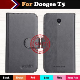Case for Doogee T5, flip, wallet, PU leather
