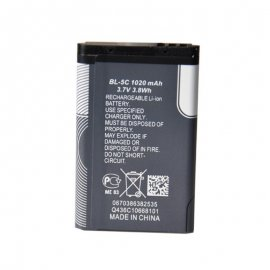 Battery (replacement) Nokia 1100 1200 1650 2300 2310 2600 2610 3100 3120 3650 5130 6030 6600 6263 6230 6630 C2-06 C2-00 / BL5C