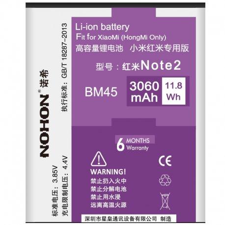 Baterie pro Xiaomi Redmi Note 2 Hongmi Note 2 Red Rice Note 2, BM45, 3060mAh