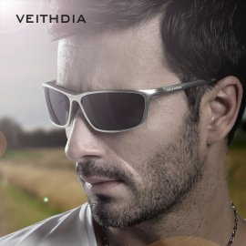 High quality polarized sunglasses VEITHDIA 6520 Aluminum Magnesium HD UV400 + case with accessories