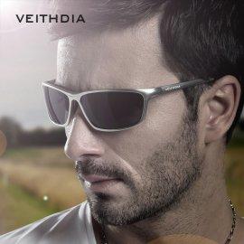 Kvalitné polarizované slnečné okuliare VEITHDIA 6520 Aluminum Magnézium HD UV400 + puzdro s príslušenstvom