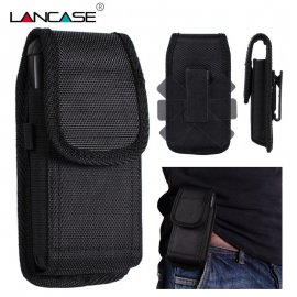 "Universal belt holster for mobile phones up to 5.7 "", 360 degree swivel, metal or plastic clip"