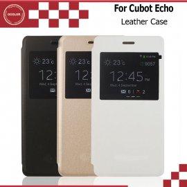 Puzdro pre CUBOT ECHO, flip, stojan, view window, PU kože