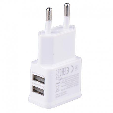 Nabíječka 2xUSB pro mobilní telefony, Android, HTC, tablety a další zařízení 5V 2A EU AC