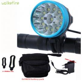 Světlo na kolo Walkfire 20000Lm, 3 mody, 12 x XML T6 LED, vodotěsné, baterie 18650, nabíječka