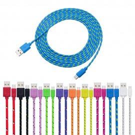 Micro USB kabel 1M/2M/3M, pletený, nabíjecí/data, univerzální