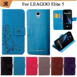Case for LEAGOO Elite 5, wallet, PU leather