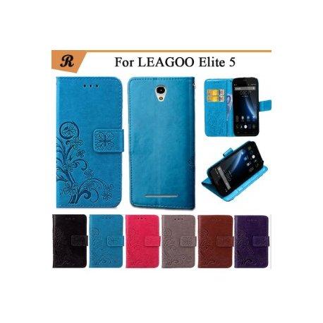 Pouzdro pro LEAGOO Elite 5, peněženka, PU kůže