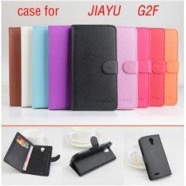 PU leather case, flip, stand for JIAYU G2F