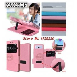 Case for Kingzone N5, View Window, PU leather