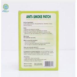 Náplasti proti kouření, KONGDY, 5x8cm, 30 ks