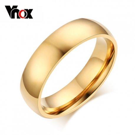 """Prsteny pro páry, svatební prstýnky """"Vnox 6mm"""", nerez ocel"""