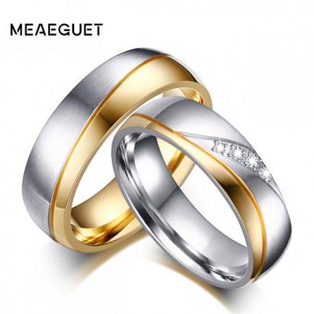 """Prsteny pro páry, svatební prstýnky """"Meaeguet Romantic"""", nerez ocel"""