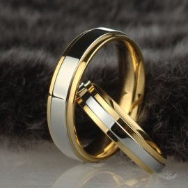 "Rings for couples, wedding rings ""Couple Alliance Ring 4mm or 6mm"", stainless steel"