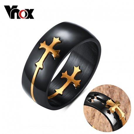 """Prsteny pro páry, svatební prstýnky """"Vnox Separable Cross"""", nerez ocel"""