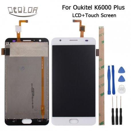 LCD obrazovka pro Oukitel K6000 Plus + dotyková vrstva digitizer + nástroje