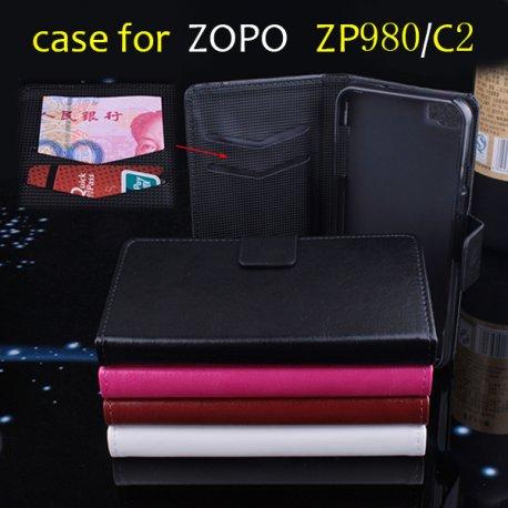 Pouzdro Zopo C2 ZP980, flip, stojánek, peněženka, PU kůže