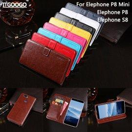 Pouzdro pro Elephone P8 / Elephone P8 Mini / Elephone S8, flip, stojánek, peněženka, PU kůže