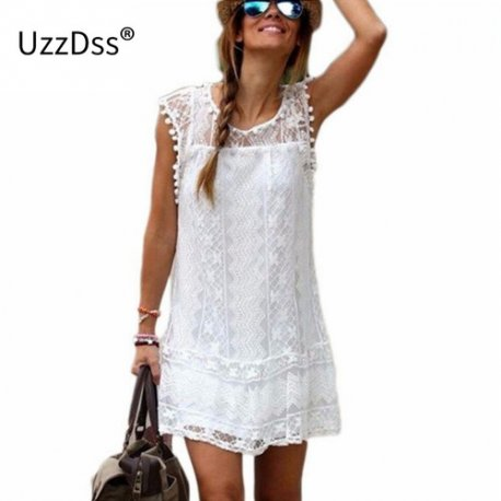 Letní šaty UZZDSS 2018 Sexy Party Casual Beach Short Dress