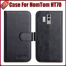 Case for HomTom HT70, flip, stand, wallet, PU leather