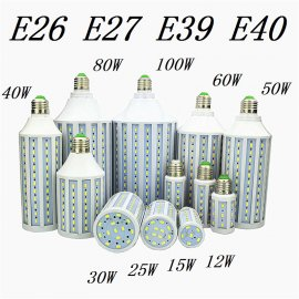 LED žárovka E27, 5730 SMD Corn Bulb 220V 12W 15W 25W 30W 40W 50W 60W 80W 100W