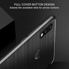 Pouzdro pro Huawei P20 Lite Huawei P10 Lite, nárazuvzdorné, carbon, silikon TPU