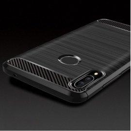 Pouzdro pro Huawei Nova 3i Nova3, nárazuvzdorné, carbon, silikon TPU