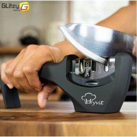 Kvalitní ostřič nožů a nůžek, 3 úrovně ostření, keramika a diamant