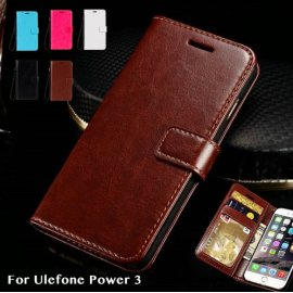 Case for Ulefone Power 3 Ulefone Power 3S, flip, wallet, stand, PU leather