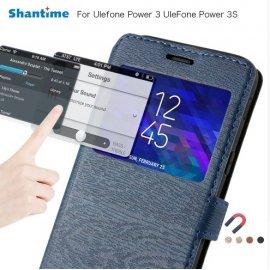 Puzdro pre Ulefone Power 3 Ulefone Power 3S, flip, peňaženka, stojan, PU kože